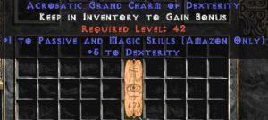 Amazon Passive & Magic Skills w/ 3-5 Dex GC