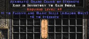Amazon Passive & Magic Skills w/ 3-5 Str GC