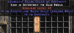 Amazon Passive & Magic Skills w/ 6 Dex GC