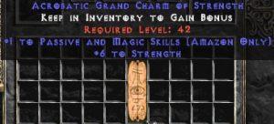 Amazon Passive & Magic Skills w/ 6 Strength GC