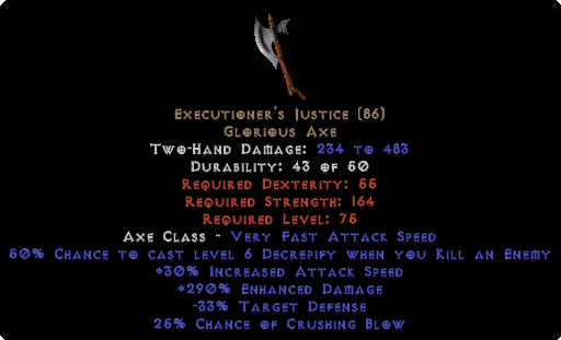 Executioner's Justice - 290% ED - Perfect