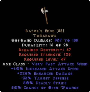 Razor's Edge - 225% ED - Perfect