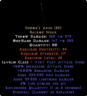Demon's Arch - Ethereal - 190%+ ED