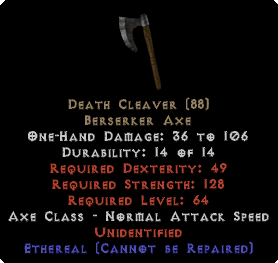 Death Cleaver - Ethereal - Unid