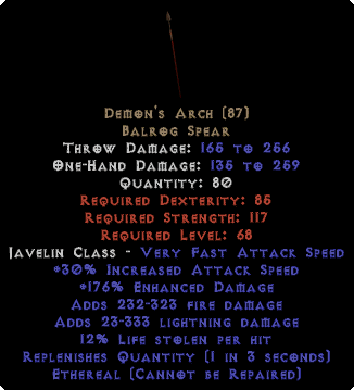 Demon's Arch - Ethereal - 210% ED