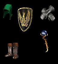 Barbarian Equipment (Immortal king set)