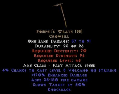 Pompeii's Wrath - 170% ED - Perfect