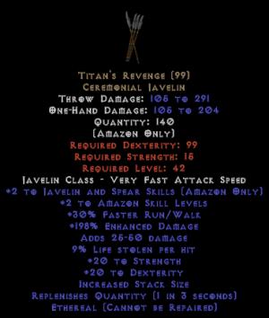 Titan's Revenge - Ethereal - 171%+ ed 9% ll