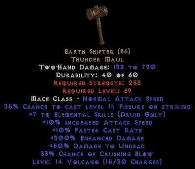 Earth Shifter 275%+ ED
