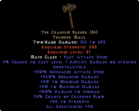 The Cranium Basher - 240% ED - Perfect