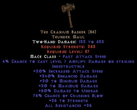 The Cranium Basher - 240% ED - Perfect