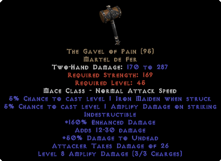 The Gavel Of Pain - 160% ED - Perfect