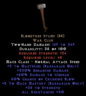 Bloodtree Stump - 220% ED - Perfect