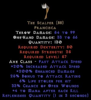 The Scalper - 6% LL & 200% ED - Perfect