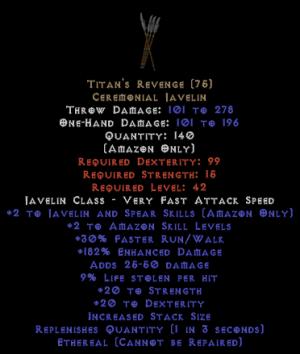 Titan's Revenge - Ethereal - 180%+ ed 9% ll