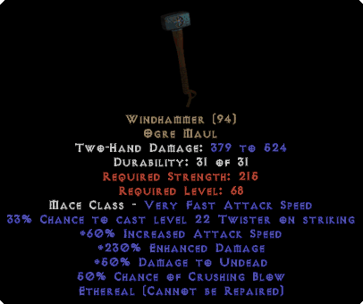 Windhammer - Ethereal - 230% ED - Perfect